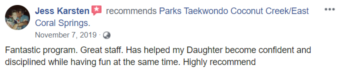 Kids1, Park's TaeKwonDo Coral Springs HQ
