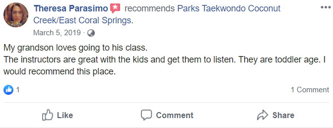 Kids2.2, Park's TaeKwonDo Coral Springs HQ
